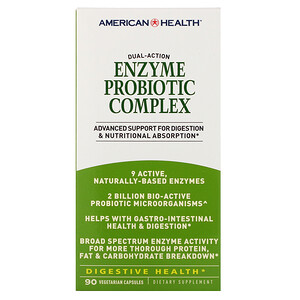 Американ Хелс, Enzyme Probiotic Complex, 90 Veggie Caps отзывы покупателей