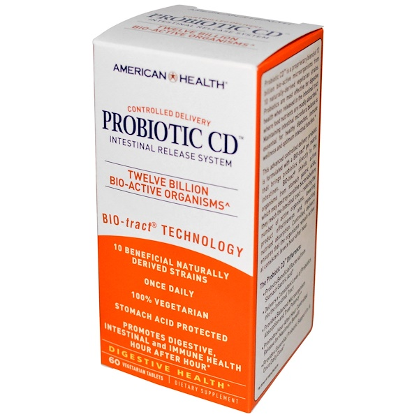 Probiotic CD, Intestinal Release System, 60 Vegetarian Tablets