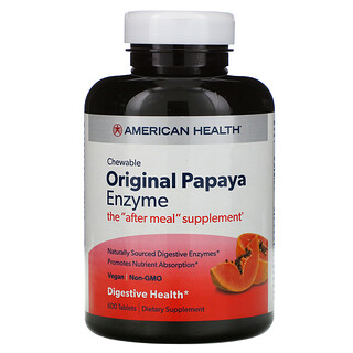 American Health, Original Papaya Enzyme, 600 Comprimidos Mastigáveis