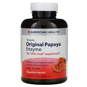 Американ Хелс, Original Papaya Enzyme, 600 Chewable Tablets отзывы