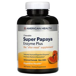 Американ Хелс, Chewable Super Papaya Enzyme Plus, 360 Tablets отзывы