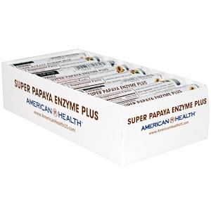 Американ Хелс, Super Papaya Enzyme Plus Chewable Tablets, 16 Rolls, 12 Tablets Each отзывы