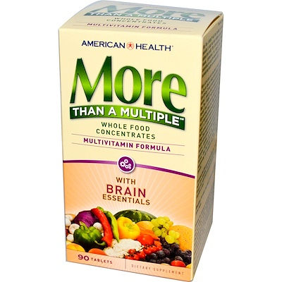 Купить American Health More Than a Multiple with Brain Essentials, 90 Tablets