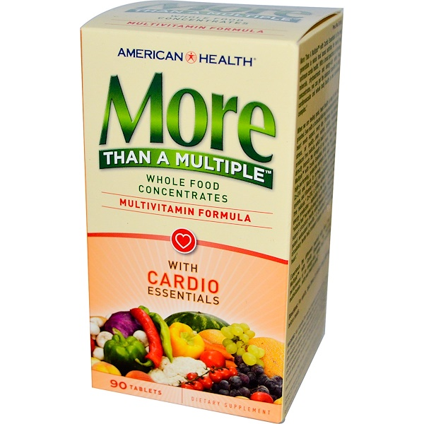 American Health, More Than A Multiple, With Cardio Essentials, 90 Tablets (Discontinued Item)