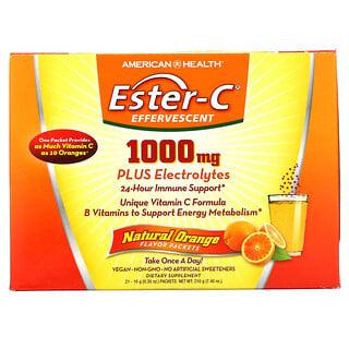 American Health, Ester-C Effervescent, Natural Orange Flavor, 1,000 mg, 21 Packets, 0.35 oz (10 g) Each