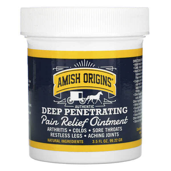 Deep Penetrating, Pain Relief Ointment, 3.5 fl oz (99.22 g)