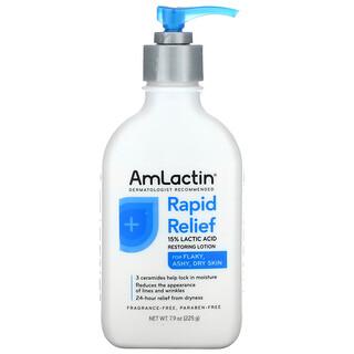 Amlactin, Rapid Relief, 15% Lactic Acid Restoring Lotion, Fragrance Free, 7.9 oz (225 g)
