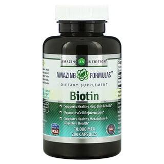 Amazing Nutrition, Biotin, 10,000 mcg, 200 Capsules