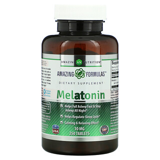 Amazing Nutrition, Melatonin, 10 mg, 250 Tablets