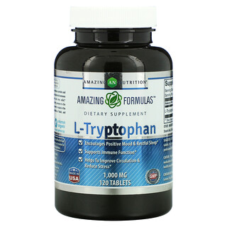 Amazing Nutrition, L-Tryptophan, 1,000 mg, 120 Tablets
