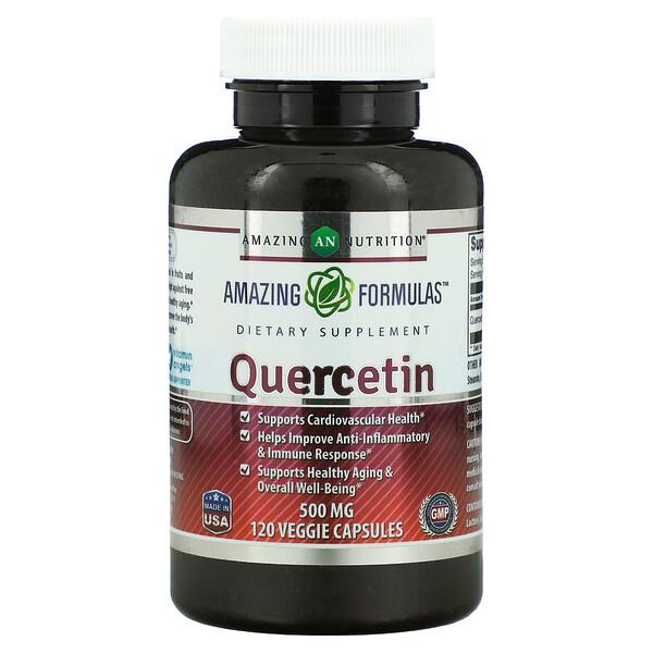 Amazing Nutrition, Quercetin, 500 mg, 120 Veggie Capsules