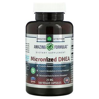 Amazing Nutrition, Micronized DHEA, 25 mg, 180 Veggie Capsules