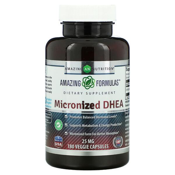 微粒化 DHEA,25 毫克,180 粒素食膠囊