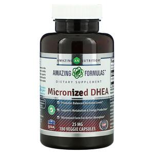 Amazing Nutrition, 微粒化 DHEA,25 毫克,180 粒素食膠囊