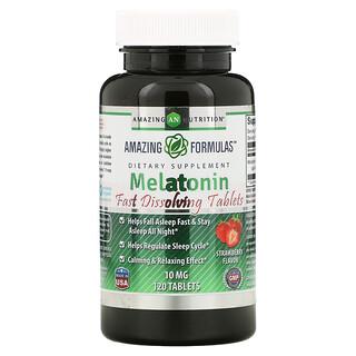 Amazing Nutrition, Melatonin, Strawberry, 10 mg, 120 Tablets