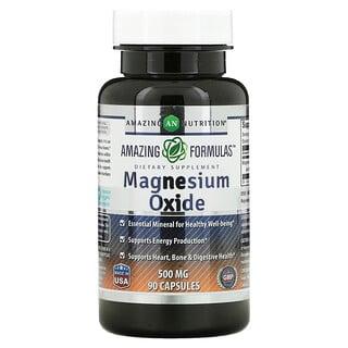 Amazing Nutrition, Magnesium Oxide, 500 mg, 90 Capsules