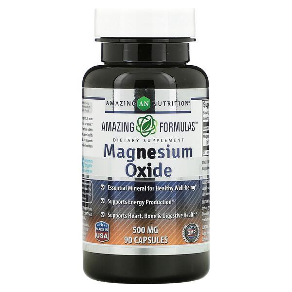Magnesium Oxide, 500 mg, 90 Capsules