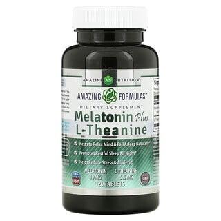 Amazing Nutrition, Melatonin Plus L-Theanine, 10 mg, 120 Tablets