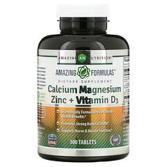 Amazing Nutrition, 鈣鎂鋅 + 維生素 D3,300 片