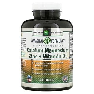 Amazing Nutrition, Calcium Magnesium Zinc + Vitamin D3, 300 Tablets