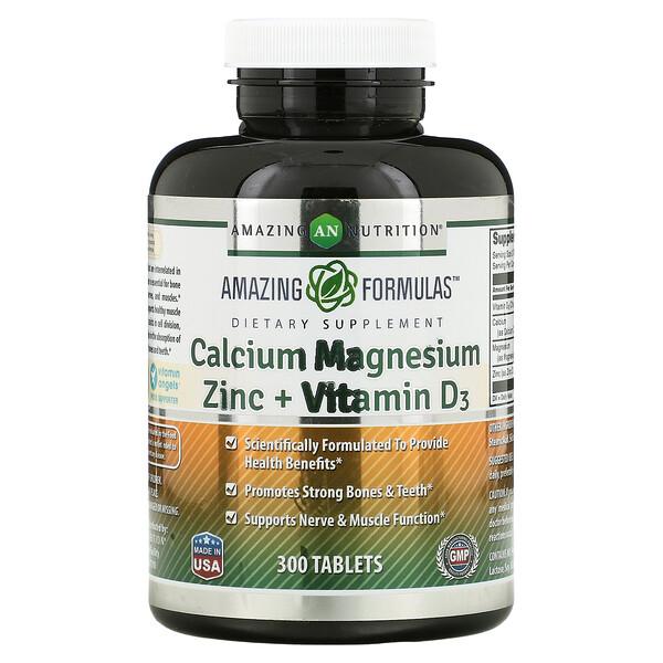 Calcium Magnesium Zinc + Vitamin D3, 300 Tablets