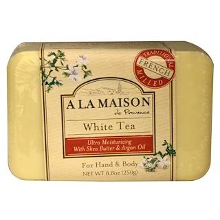 A La Maison de Provence, Jabón de barra para la mano y el cuerpo, té blanco, 250 g (8.8 oz)