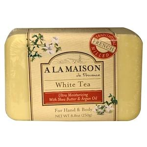 A La Maison de Provence, Мыло для рук и тела, белый чай, 250 г (8,8 унции) купить на iHerb