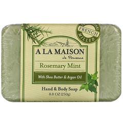A La Maison de Provence, 手部及身體香皂,迷迭香薄荷,8.8盎司(250克)