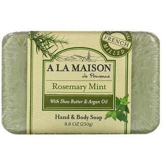 A La Maison de Provence, Hand & Body Bar Soap, Rosemary Mint , 8.8 oz (250 g)