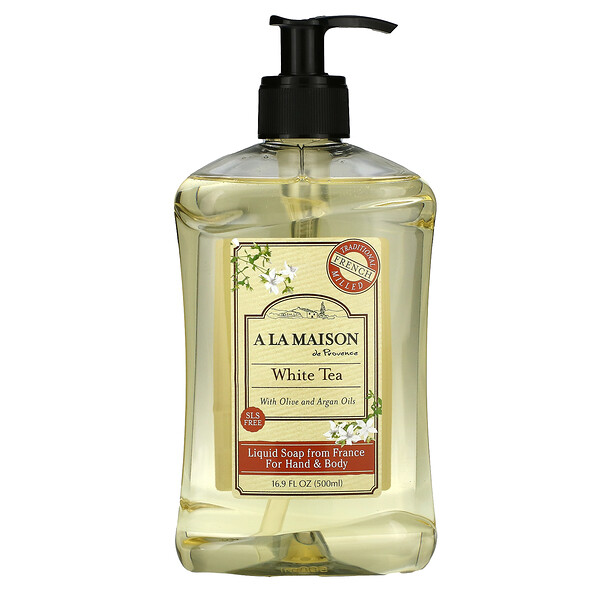 A La Maison de Provence, Liquid Soap For Hand & Body, White Tea, 16.9 fl oz (500 ml)