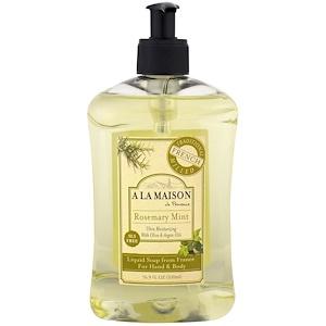 A La Maison de Provence, Жидкое мыло для рук и тела, розмарин и мята, 16,9 жидких унций (500 мл) купить на iHerb