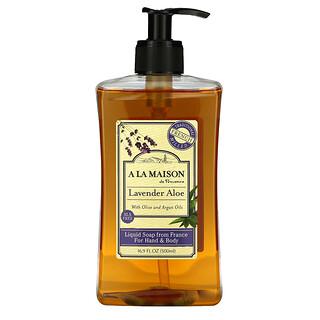 A La Maison de Provence, Hand & Body Soap, Lavender Aloe, 16.9 fl oz (500 ml)