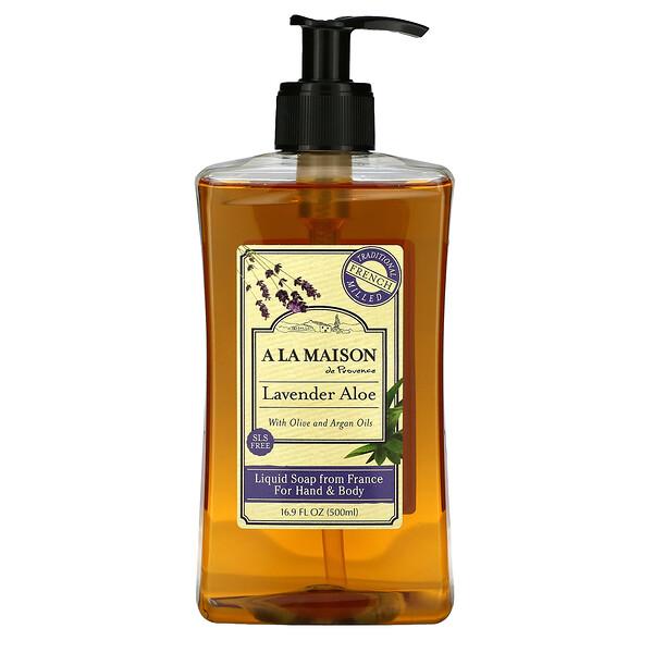 Hand & Body Soap, Lavender Aloe, 16.9 fl oz (500 ml)