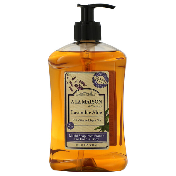 Hand & Body Liquid Soap, Lavender Aloe, 16.9 fl oz (500 ml)