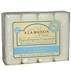 A La Maison de Provence, Hand & Body Bar Soap, Hypoallergenic Unscented, 4 Bars, 3.5 oz (100 g) Each