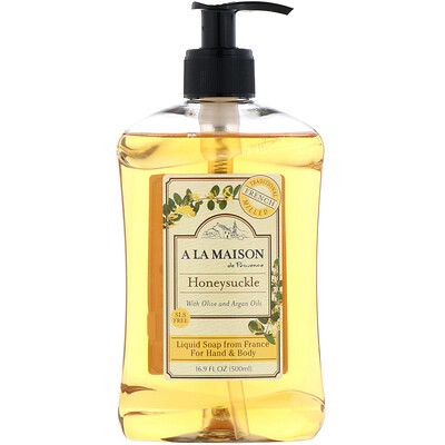 Жидкое мыло для тела и рук, жимолость, 500 мл (16,9 жидких унций) жидкое крем мыло для рук ягодный мусс 500 мл