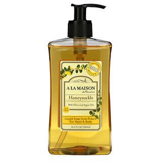A La Maison de Provence, Sabonete líquido para mãos e corpo, madressilva, 16,9 fl. oz. (500 mL)