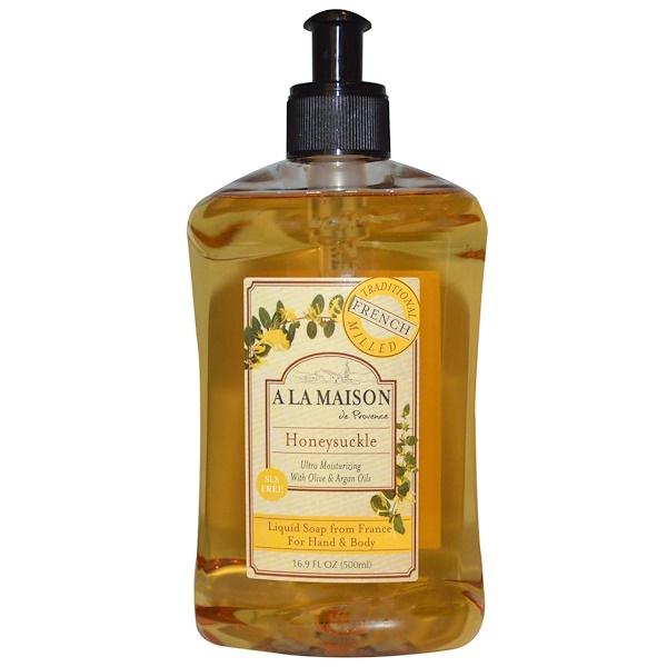 A La Maison de Provence, 手部及身體皂液,金銀花,16、9液體盎司(500毫升)
