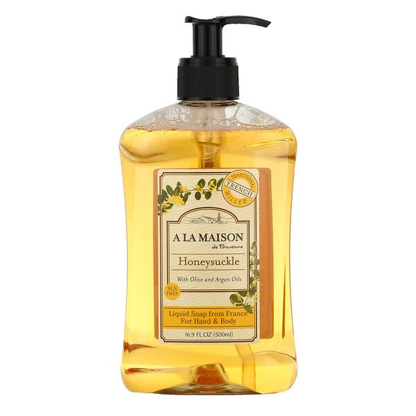 A La Maison de Provence, Hand & Body Liquid Soap, Honeysuckle, 16.9 fl oz (500 ml)