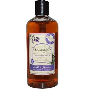 A La Maison de Provence, Жидкое мыло для ванны и душа, лаванда и алоэ, 500 мл (16,9 жидких унций) купить на iHerb