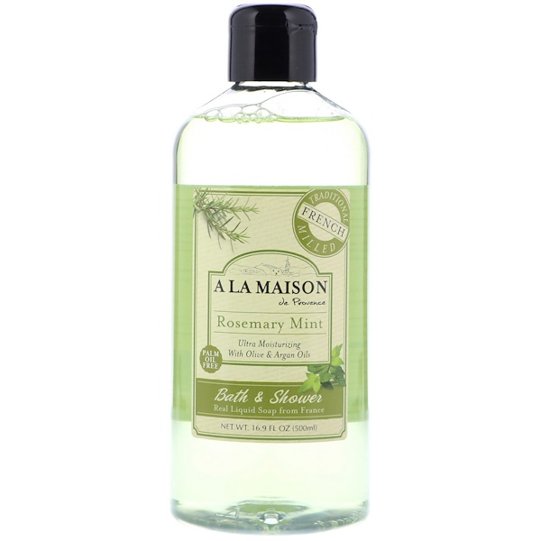 Bath & Shower Liquid Soap, Rosemary Mint, 16.9 fl oz (500 ml)