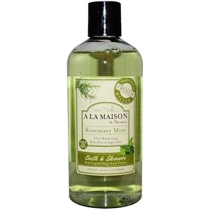 A La Maison de Provence, Жидкое мыло для ванны и душа, розмарин и мята, 500 мл (16,9 жидких унций) купить на iHerb