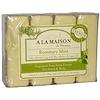 A La Maison de Provence, Мыло для рук и тела, с ароматом розмарина и мяты, 4 куска, 3.5 унций (100 г) каждый