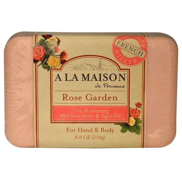 A La Maison de Provence, Hand & Body Bar Soap, Rose Garden, 8.8 oz (250 g) (Discontinued Item)