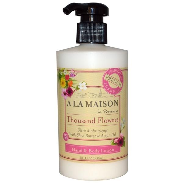 A La Maison de Provence, Hand & Body Lotion, Thousand Flowers, 10 fl oz (300 ml) (Discontinued Item)