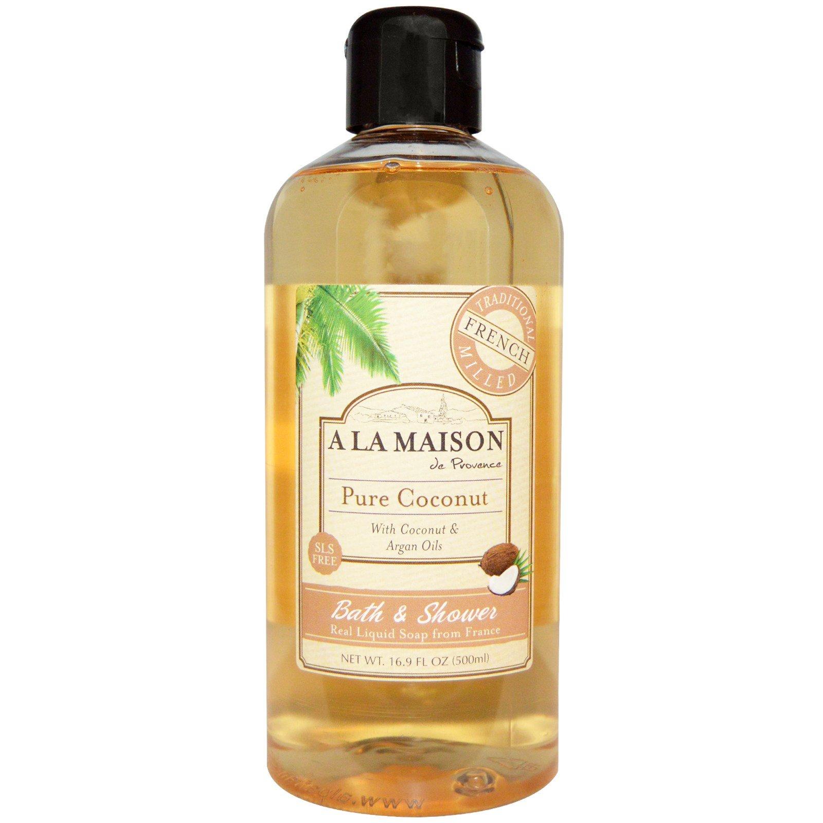 A La Maison de Provence, Жидкое мыло для ванны и душа, Кокос, 16,9 унции (500 мл)