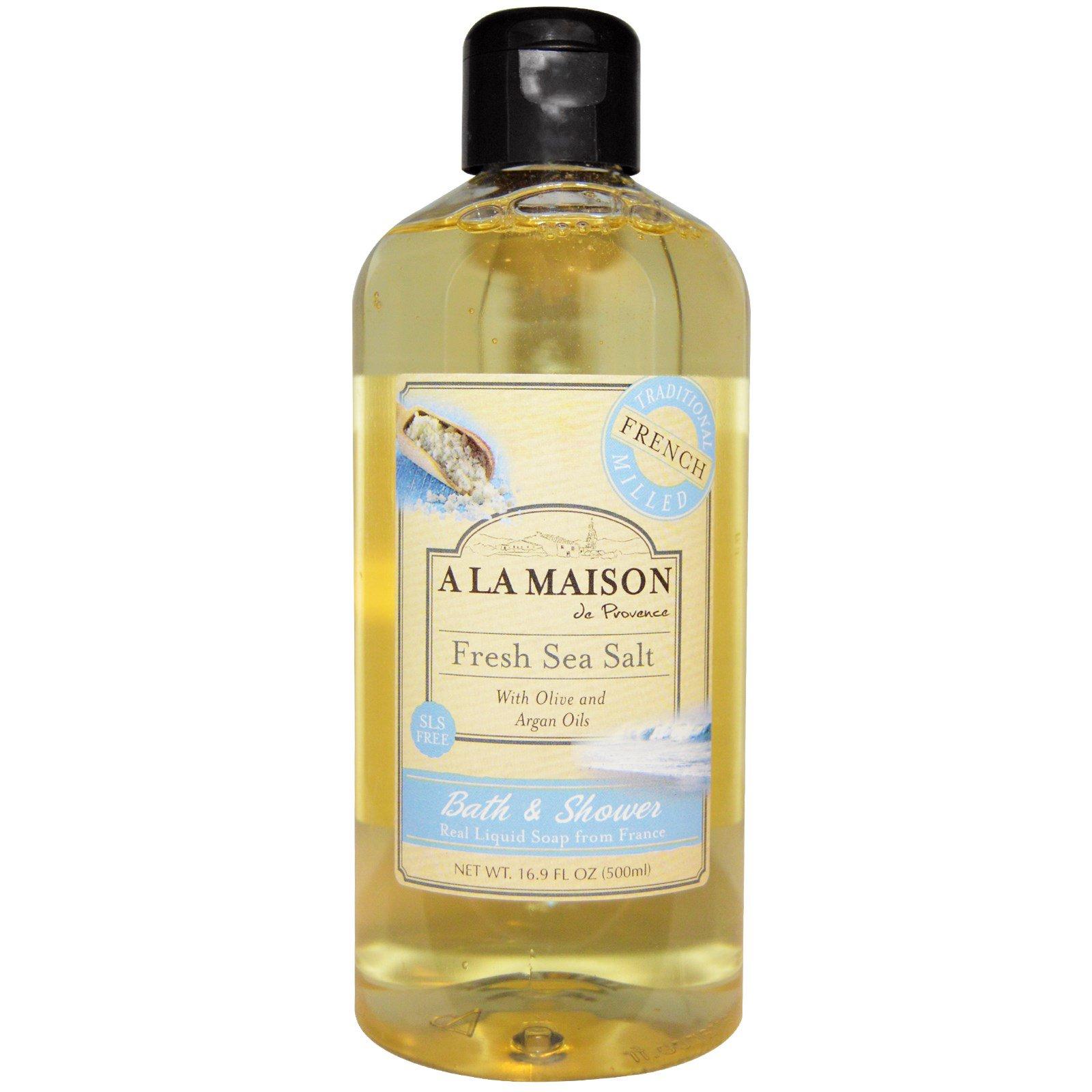 A La Maison de Provence, Жидкое мыло для ванны и душа, Свежая морская соль, 16,9 унции (500 мл)