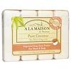 A La Maison de Provence, ハンド& ボディバー ソープ、 ピュア ココナッツ、 4バー、 各3.5 oz