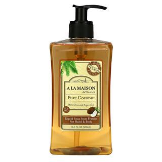 A La Maison de Provence, Liquid Soap For Hand & Body, Pure Coconut, 16.9 fl oz (500 ml)