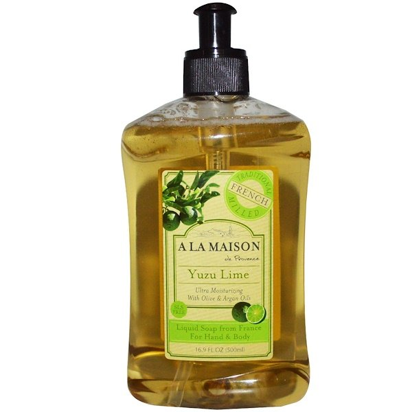 A La Maison de Provence, Hand & Body Liquid Soap, Yuzu Lime, 16.9 fl oz (500 ml)